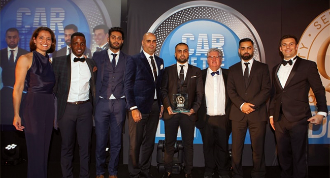 Street Cars, Manchester collect the Special Recognition Award on behalf of North West operators and drivers.
